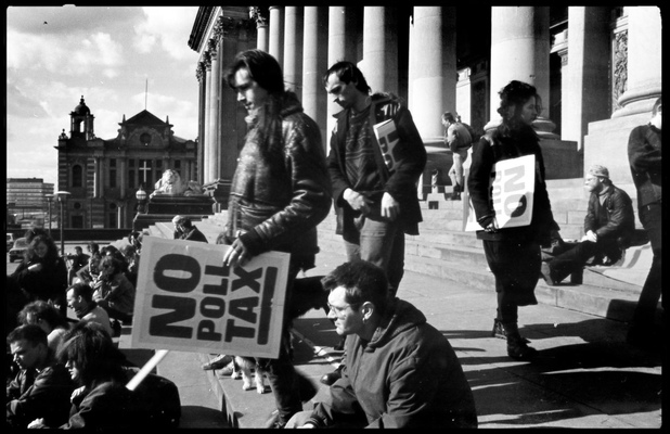 Andrew Bannerman-Bayles - Poll Tax Demonstration Leeds Town Hall