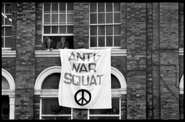 Andrew Bannerman-Bayles - Anti War Squat Demonstration Rates Building, Leeds