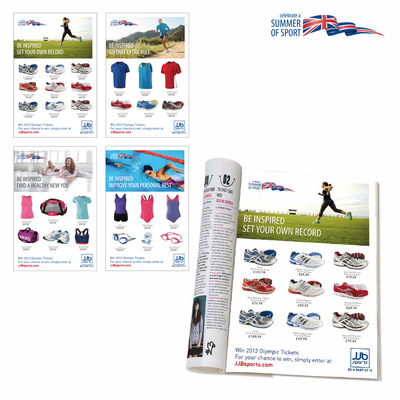 Andrew Bannerman-Bayles - Summer Of Sport Campaign - Magazine Ads   JJB Sports