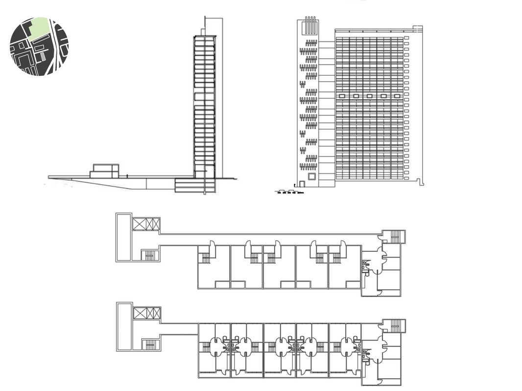 Margaret Molly McCormick Portfolio - Balfron Tower Apartment Building Section