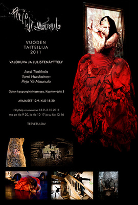 jussi.tuokkola.studio.ukkoshuone - Oulu Artist of the year exhibition flyer