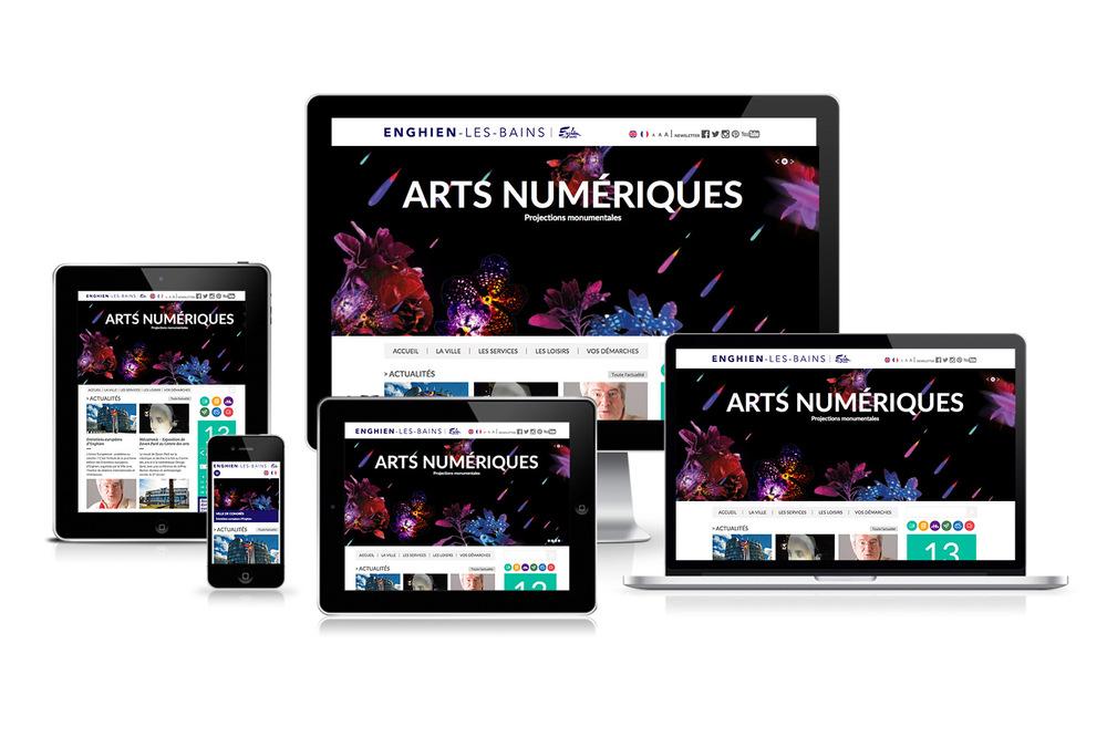 samantha paul - Responsive Web design www.ville-enghienlesbains.fr