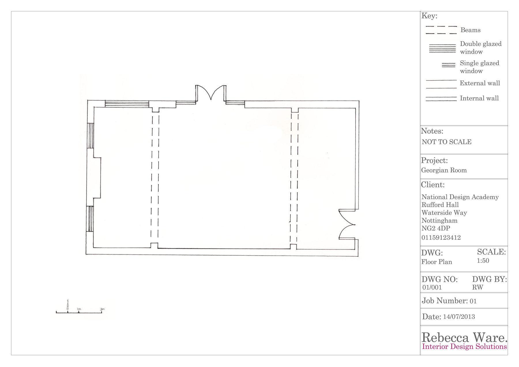 Portfolio Rebecca Ware Doubleglazingdiagram01jpg Technical Drawing