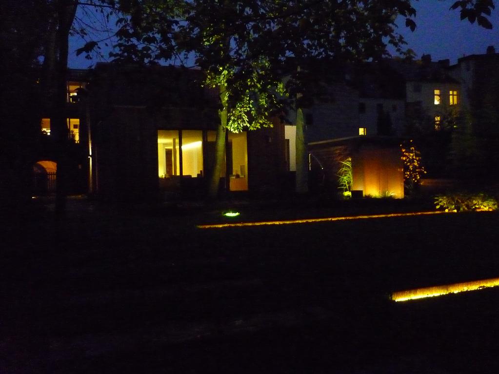 Jörg Kaspari - Landschaftsarchitekt - Gartenansicht bei Nacht
