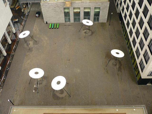 Jörg Kaspari - Landschaftsarchitekt - Grafische Wirkung des Quartiersplatzes von der Aussichtsplattform Hochofen