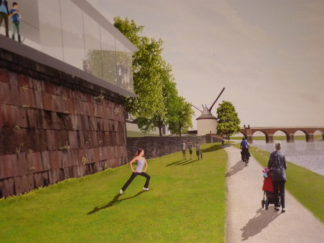 Jörg Kaspari - Landschaftsarchitekt - Krahnen-Café <-> Blick zur Europäischen Kunstakademie