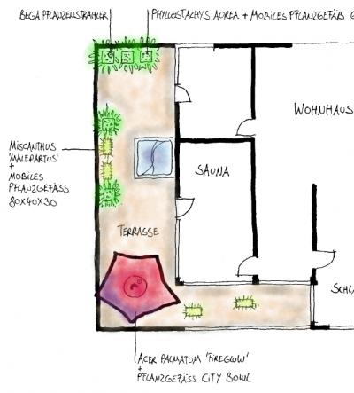 Jörg Kaspari - Landschaftsarchitekt - Dachterrasse Rosa