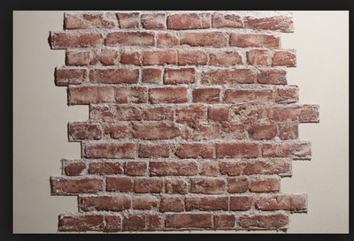 Lucille Dee - Faux Brick Work, Shepperton Studio