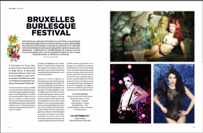 Lyne Looze ♡ Photographer - Brussels Burlesque Festival (live picture of Raven, the pink one) ◊ LIncontournable Magazine ◊ Sept. 2017