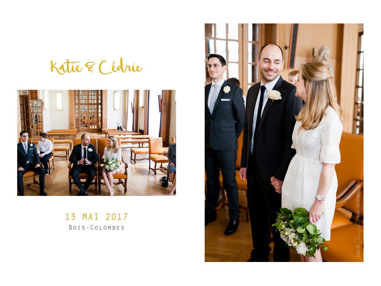 Célèbre Mariage civil en petit comité à Bois Colombes - K&C EA22