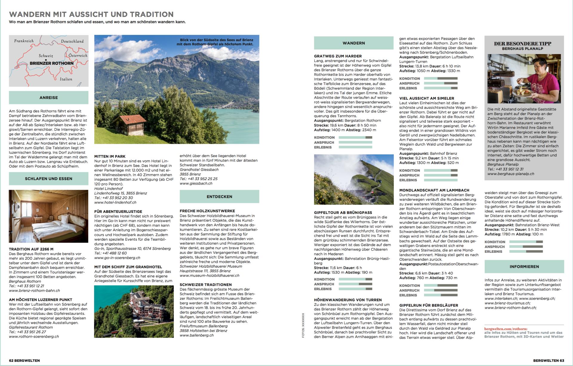 Bergreportage Brienzer Rothorn / Bergwelten Magazin