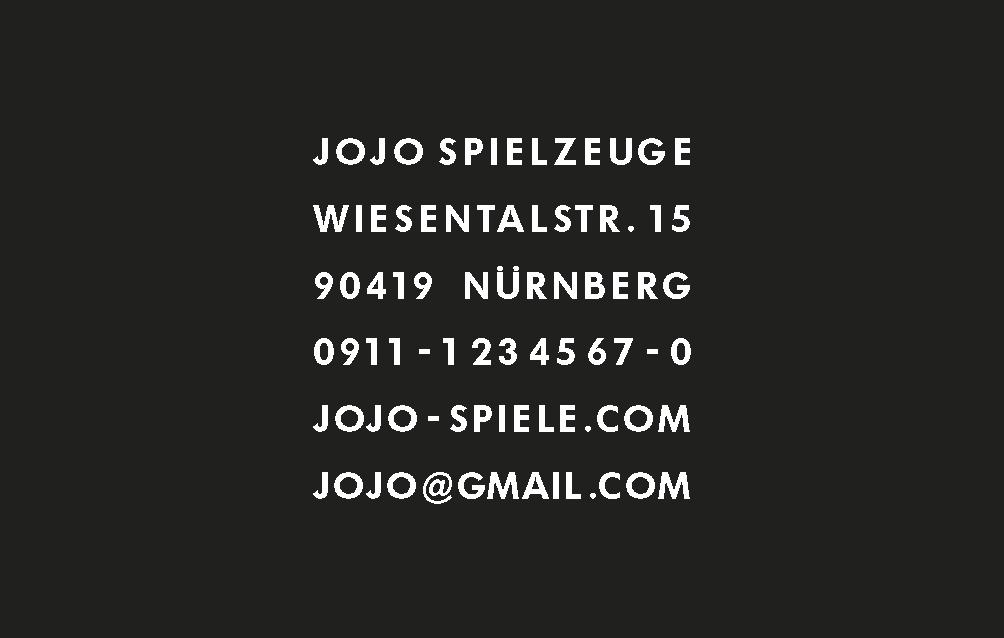Visitenkarte Jojo