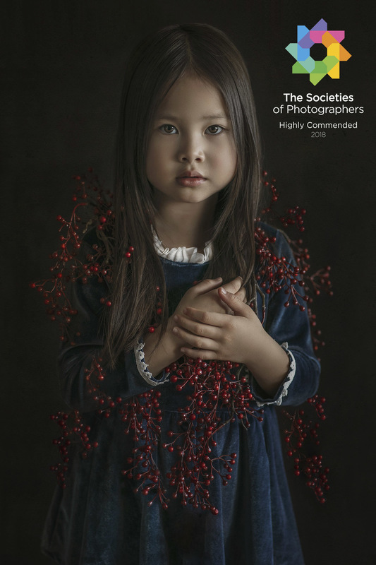 Dai Bui Photography - Highly Commended Award in Society of Wedding and Portraits Photographers for October 2018; Category - Children; Title: The Autumn Cape; Autor: Dai Bui