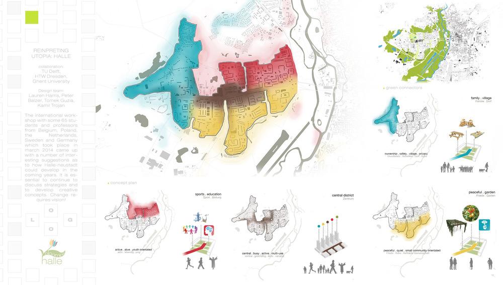reinpreting utopia - architecture student portfolio