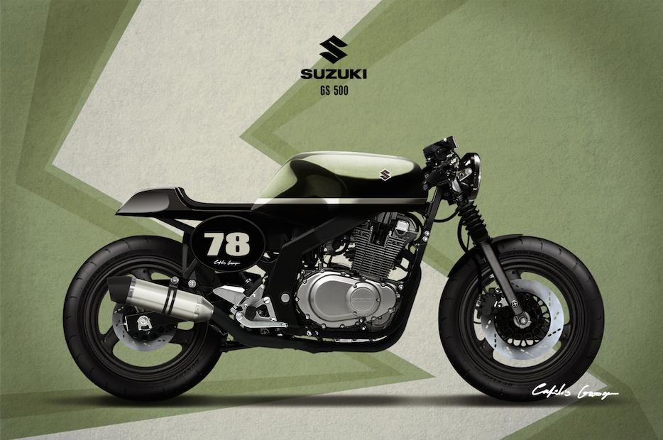 suzuki gs500 cafe racer – idee per l'immagine del motociclo