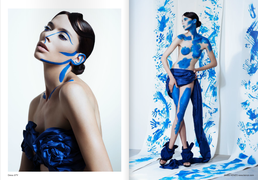 Donatella Pia - Monochrome A tribute to Yves Klein - Lui Magazine