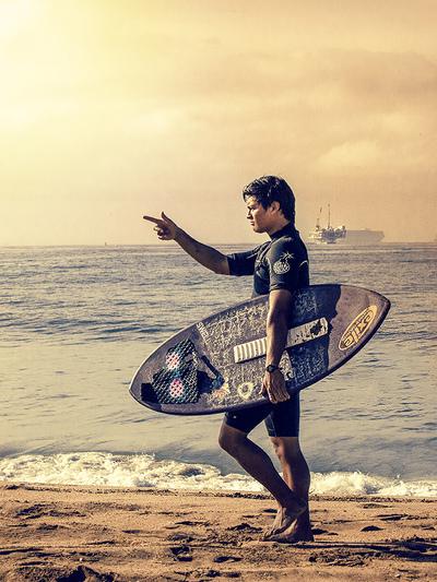 Martin Häusler, Martin Hausler, Martin Haeusler, Fotograf, photographer, Heidelberg, Los Angeles, Hollywood, California, Beach, Surfer, Surf