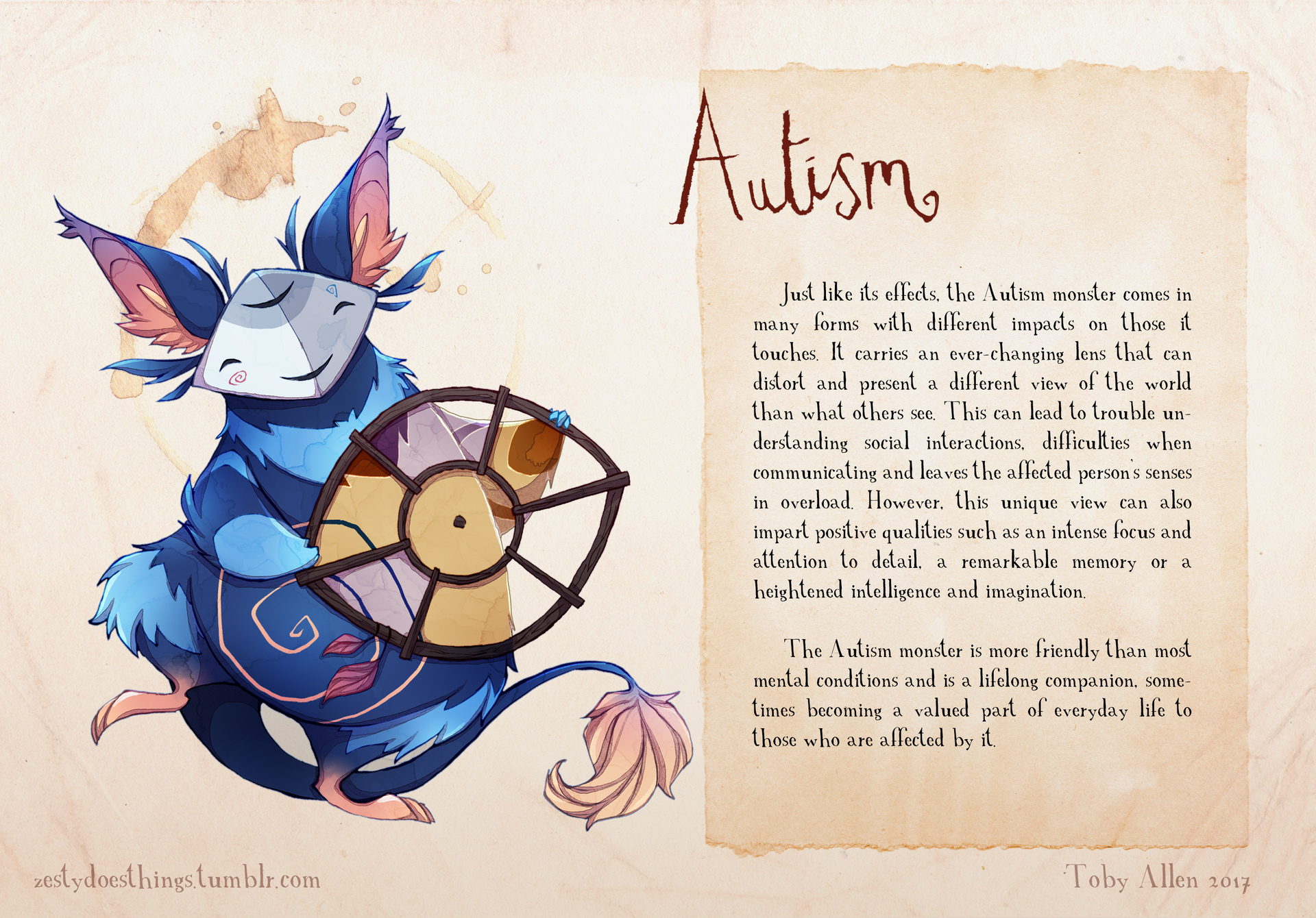 Artist With Autism Illustrates >> Real Monsters