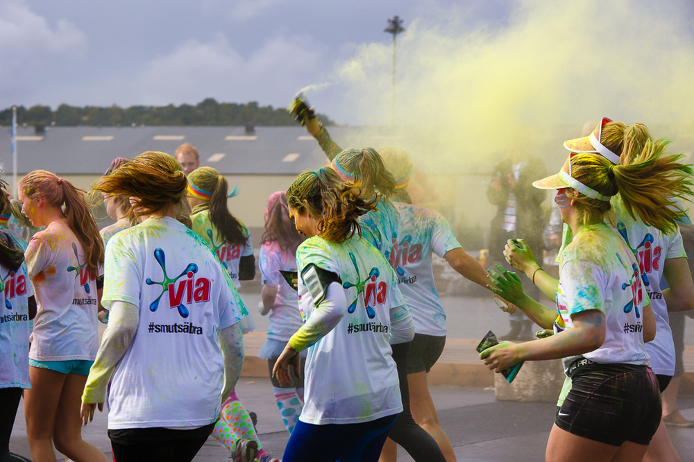 Sofia Peurasaari - The color run 2015