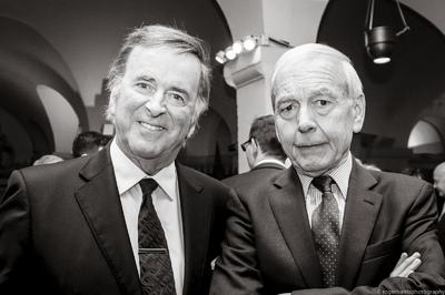 Sir Terry Wogan and John Humpfreys