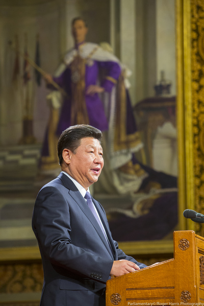 Chinese President Xi Jinping visit to UK House of Parliament