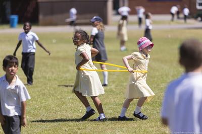 Children and hula hoop