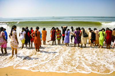 Colourful saris Goa India