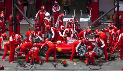 Ferrari at the Spanish Grand Prix shell