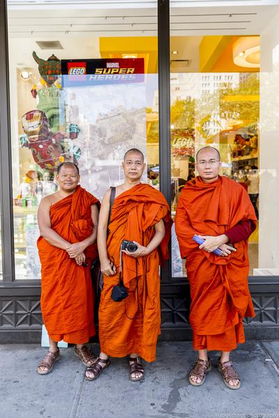new york street superhero monks