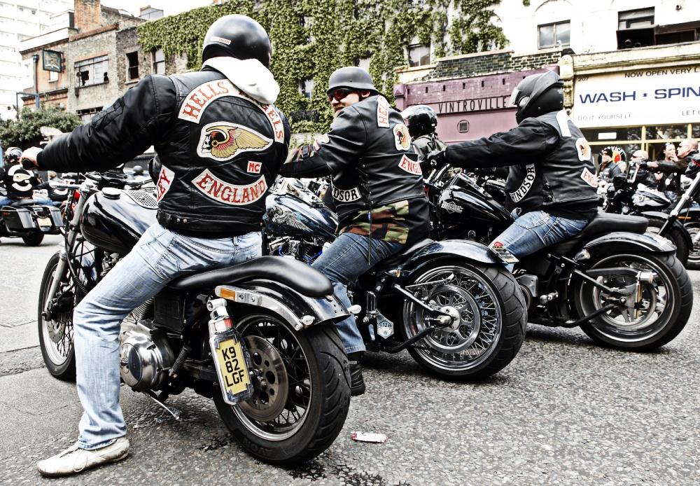 Hells Angels Funeral, Hackney  London  - Colin Streater
