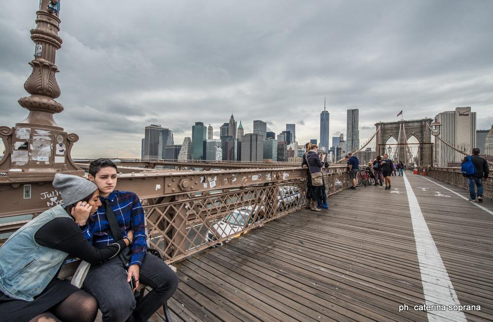 Cate Soprana - On the brooklyn Bridge