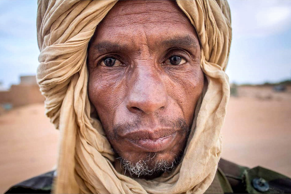 Sahrawi man in Tindouf Refugee Camp, Algeria