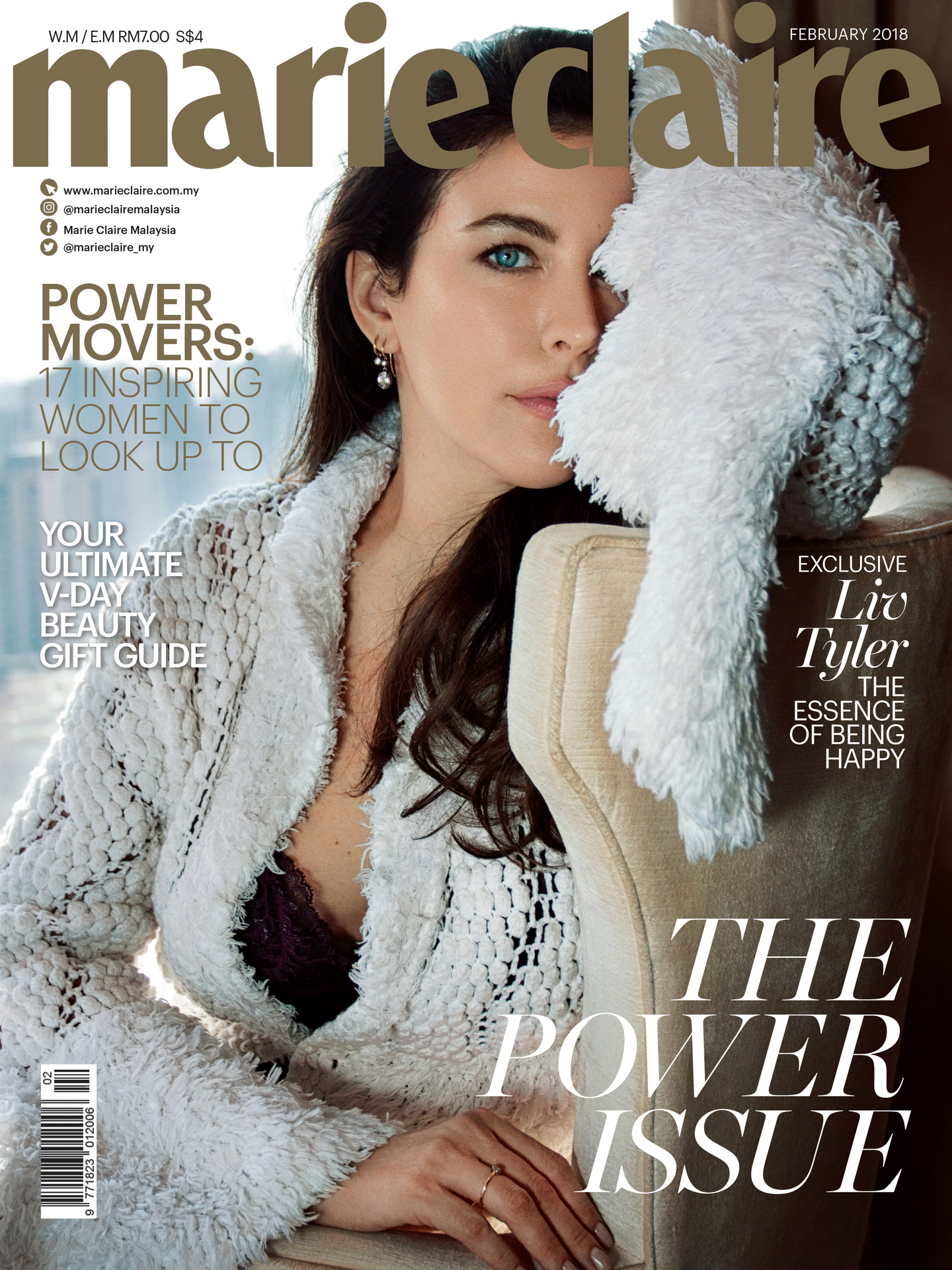 MARIE CLAIRE COVER - LIV TYLER FEB 18