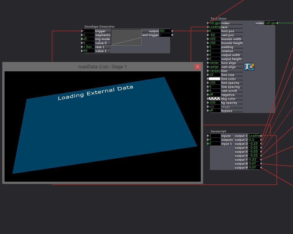 Javascript : load external settings