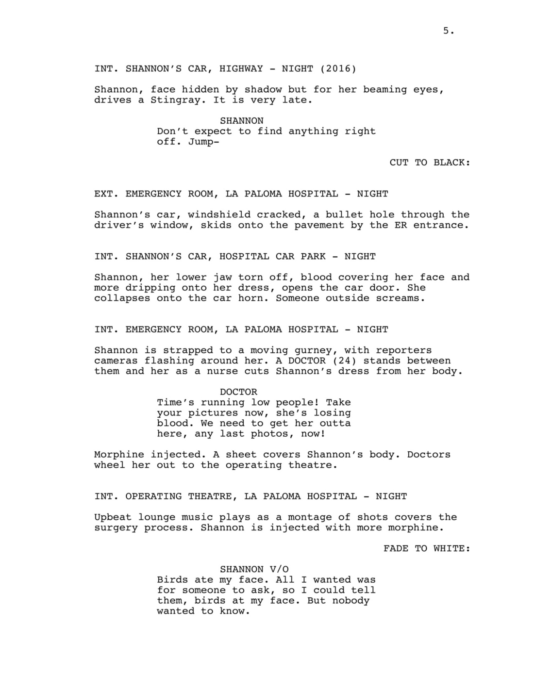 Invisible Monsters - Script Excerpt