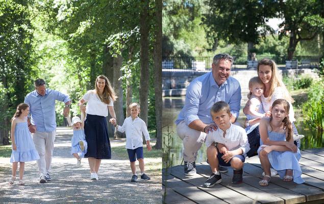 Familjefotografering I Ulriksdals Slottspark Solna Stockholm