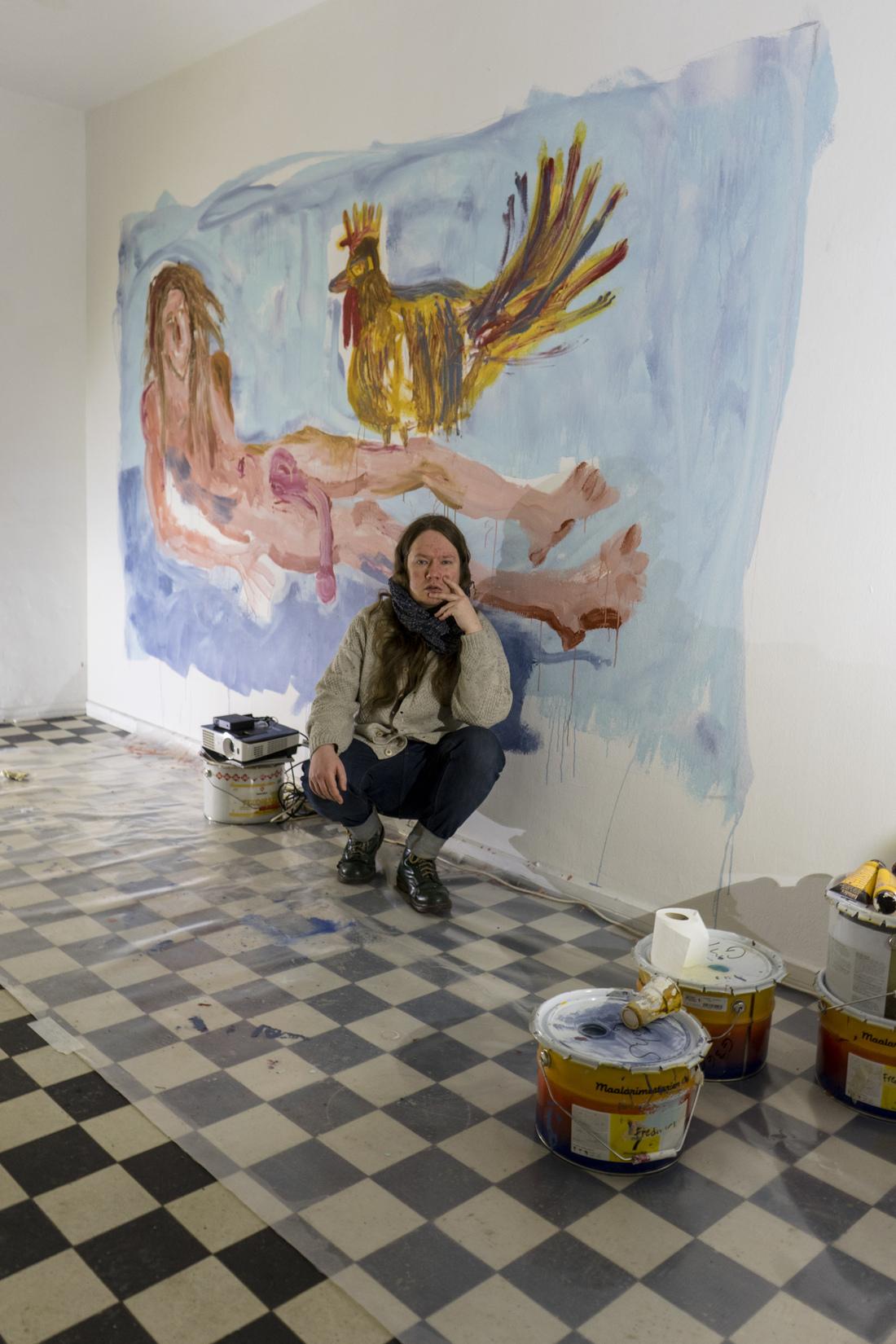 Joonas Jokiranta - Selfportrait w a large cock