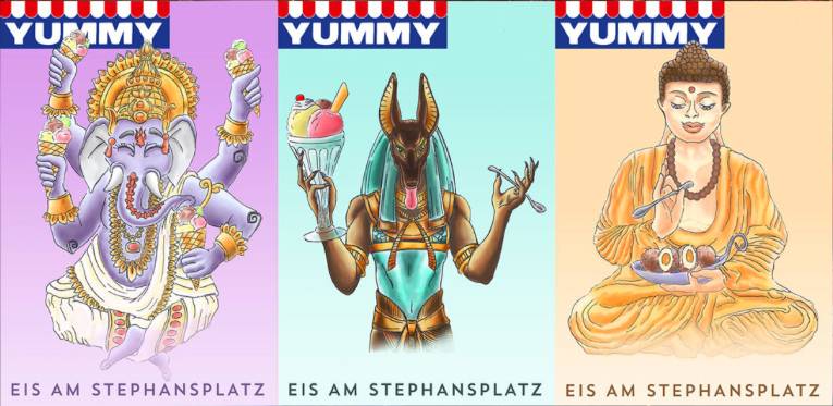 Georg Gondowidjaja - Ice-Cream Posters