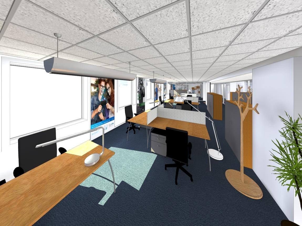 Nelly CORTOT - Aménagement & décoration d'un plateau de bureau à Charenton -Projet en cours