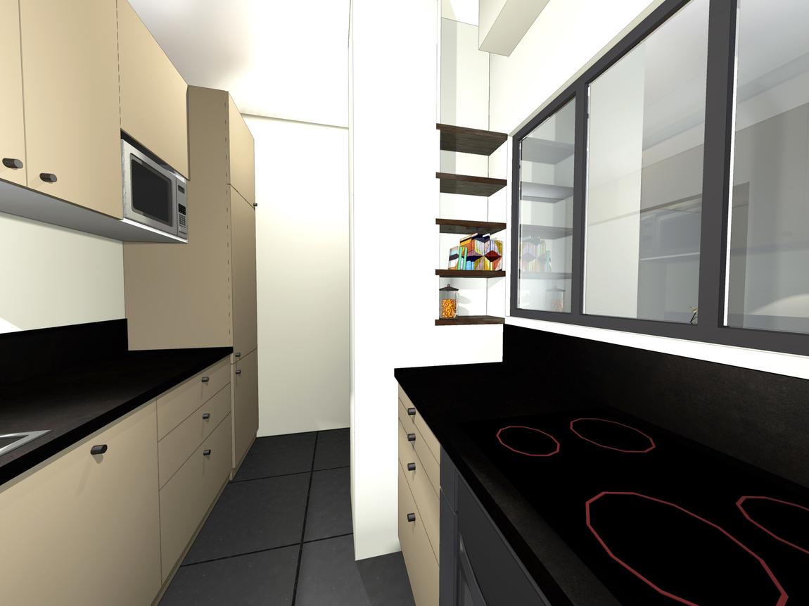 Nelly CORTOT - De la lumière dans la cuisine! - Montrouge - projet en cours
