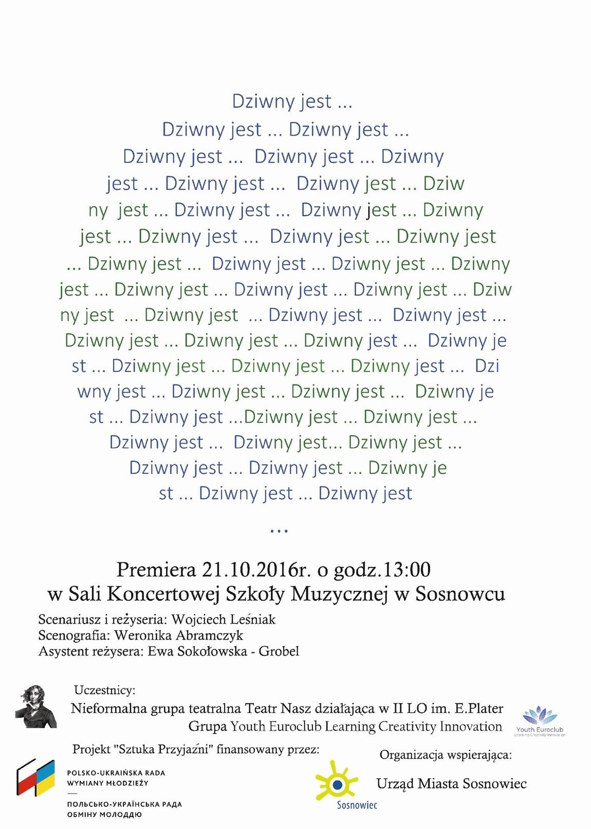 """Weronika Abramczyk - Poster """"Dziwny jest ..."""""""