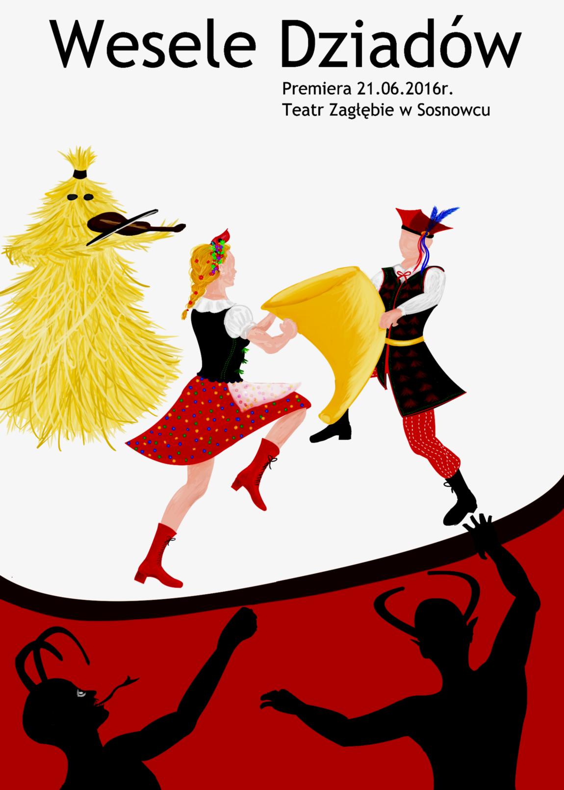 """Weronika Abramczyk - Poster """"Wesele Dziadów"""""""