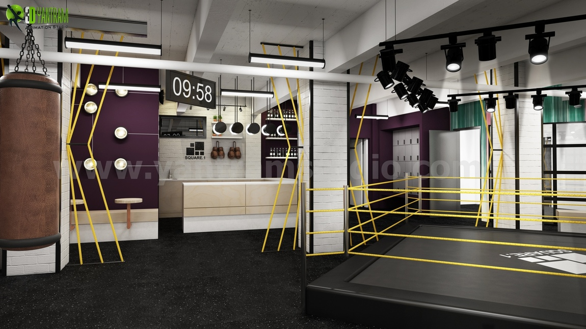 Yantram Studio - Fitness Motivation Gym Renderings Ideas from 3D Interior Designers of Yantram - Boston, USA