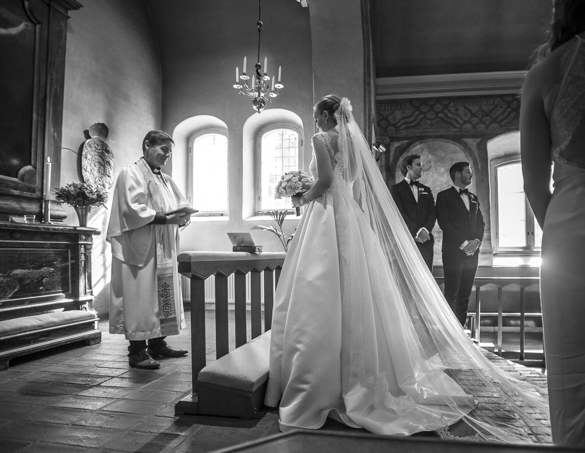 Ann Broman - Wedding, Lidingö kyrka, August 2016, Photo by Ann Broman/Luxingen.se