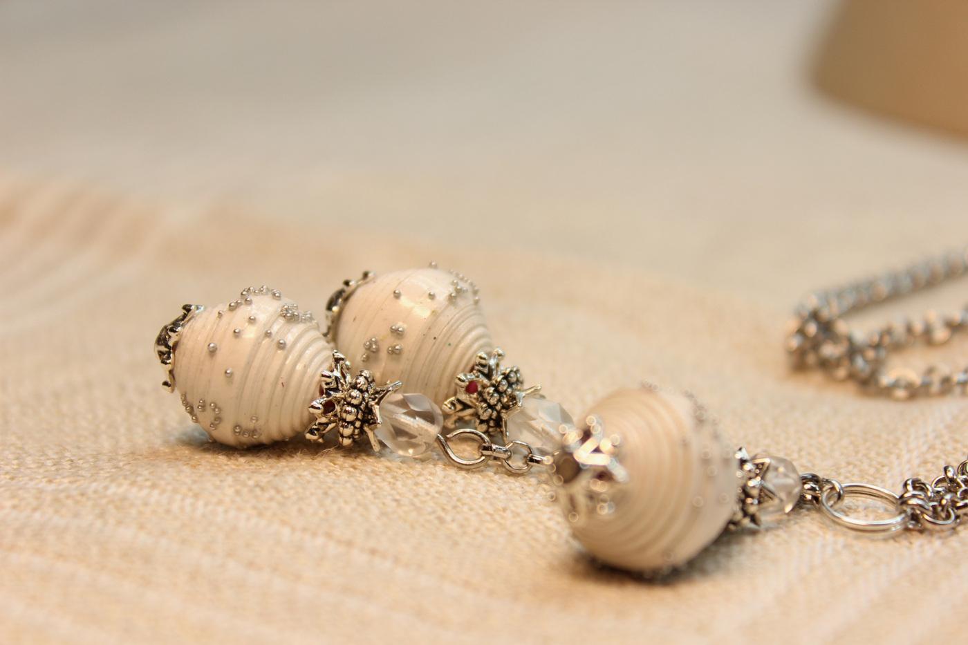 Cirsium - Jewelry design - paper beads