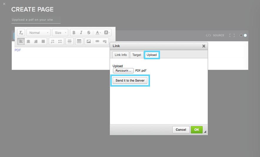 Pdf file link for create